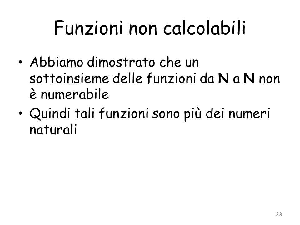 Funzioni non calcolabili