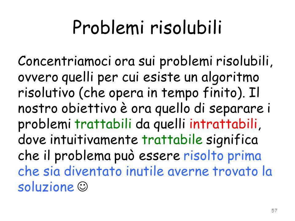 Problemi risolubili