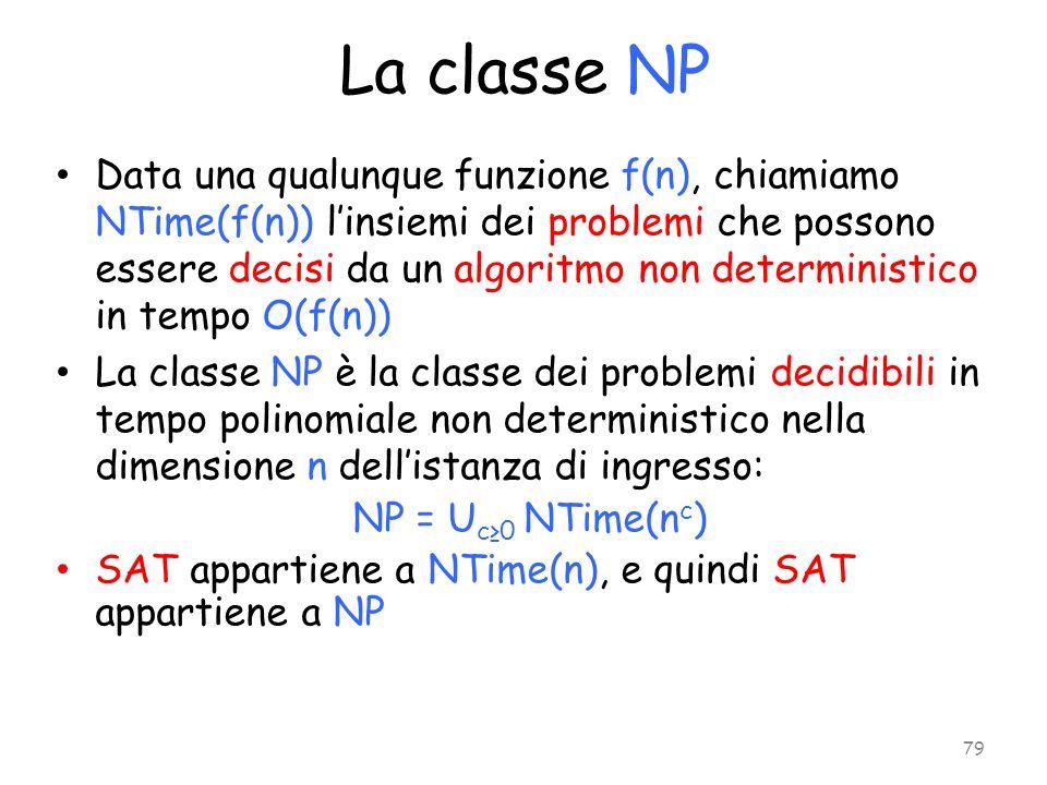 La classe NP