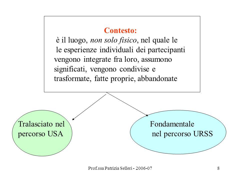 Prof.ssa Patrizia Selleri - 2006-07
