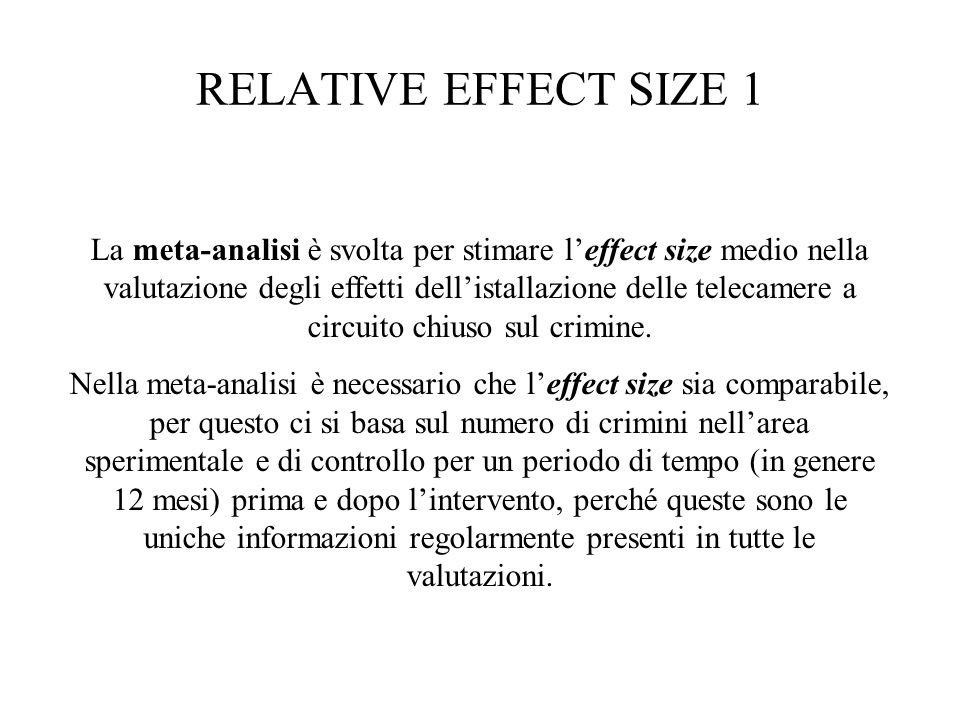 RELATIVE EFFECT SIZE 1