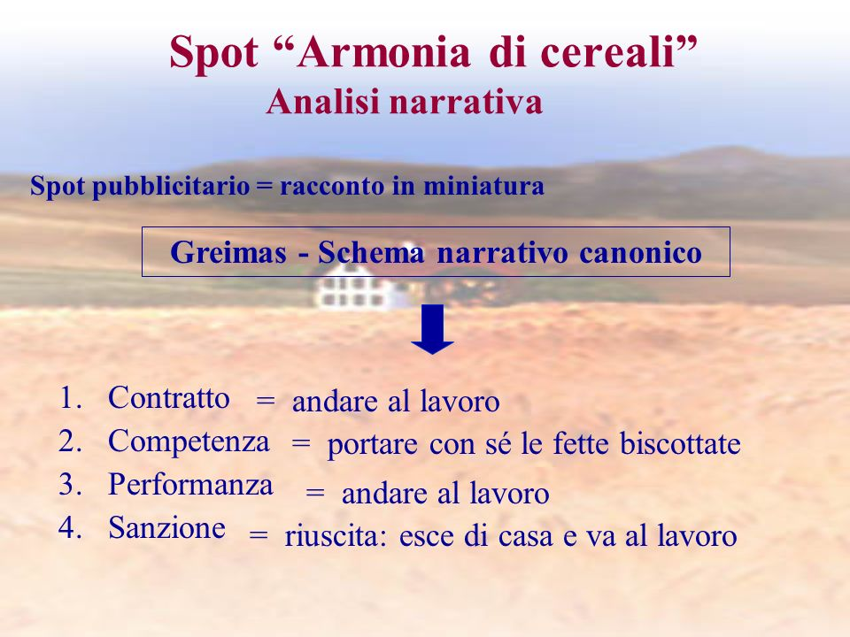 Spot Armonia di cereali Analisi narrativa