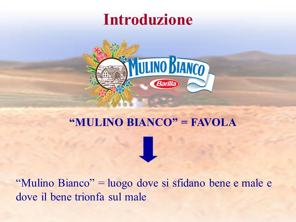 Introduzione MULINO BIANCO = FAVOLA