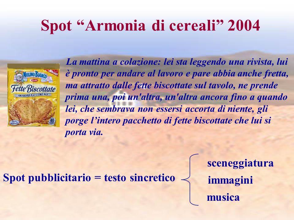 Spot Armonia di cereali 2004