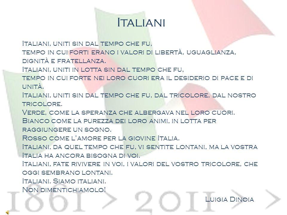 Italiani Italiani, uniti sin dal tempo che fu,