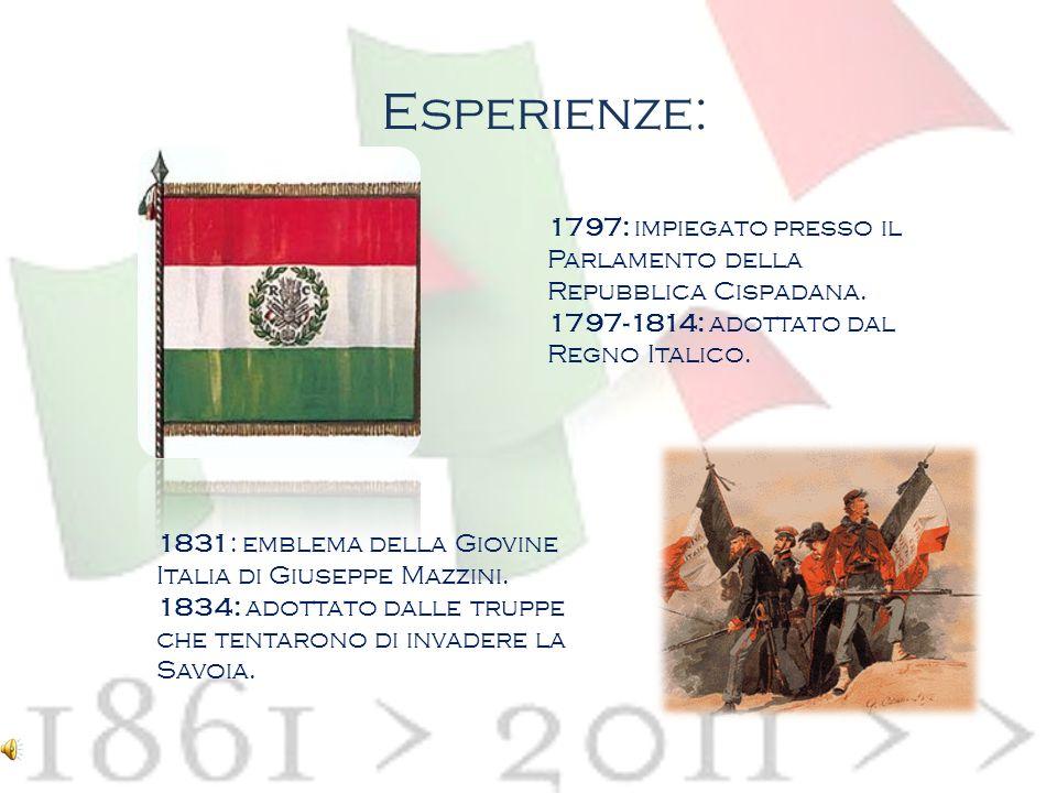 Esperienze: 1797: impiegato presso il Parlamento della Repubblica Cispadana. 1797-1814: adottato dal Regno Italico.