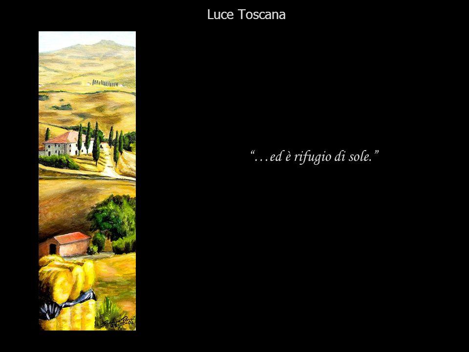 Luce Toscana …ed è rifugio di sole.