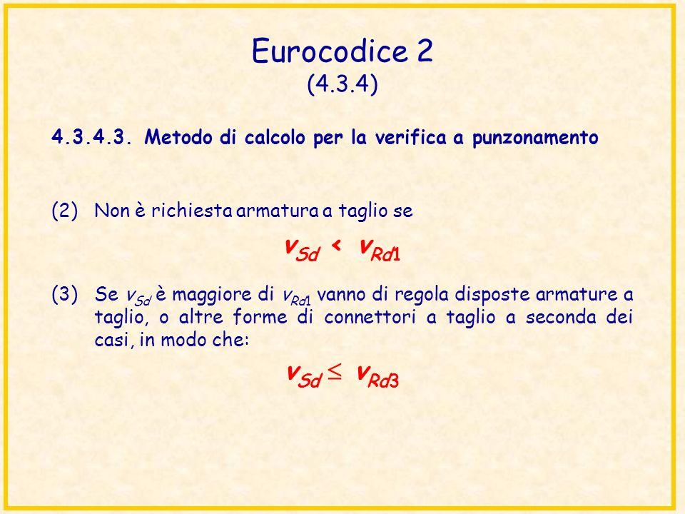 Eurocodice 2 (4.3.4) vSd < vRd1 vSd  vRd3