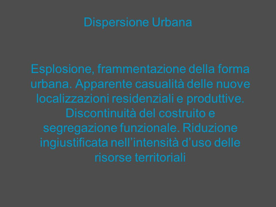 Dispersione Urbana
