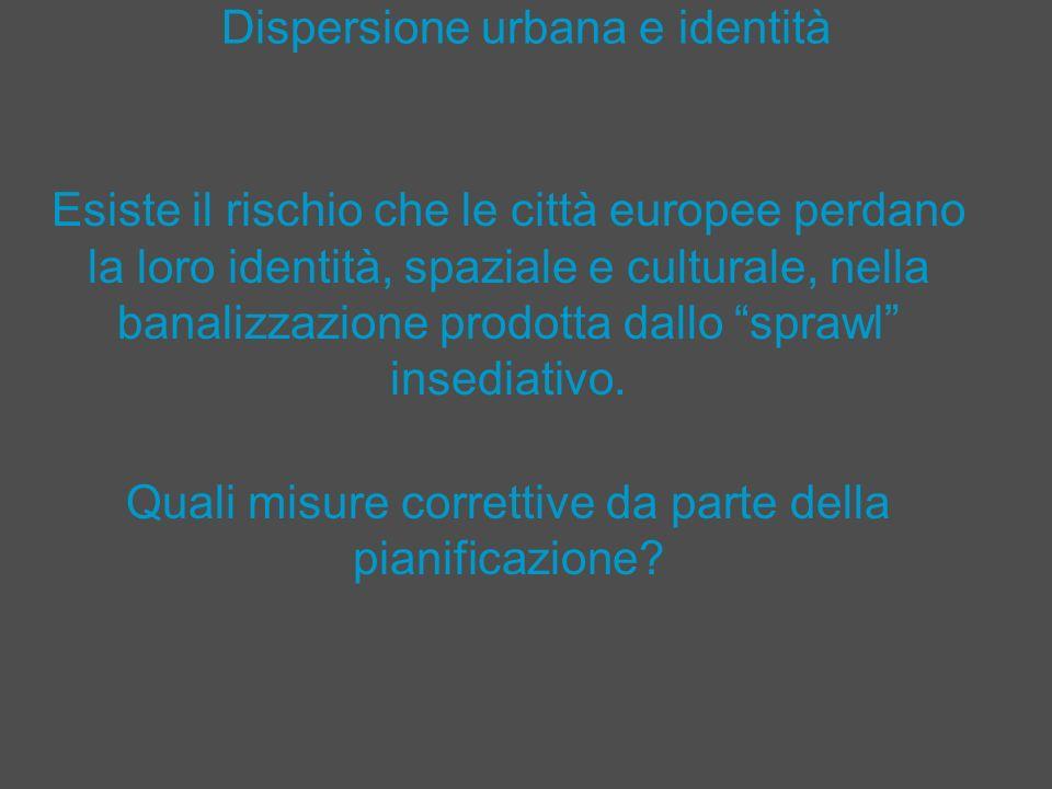Dispersione urbana e identità
