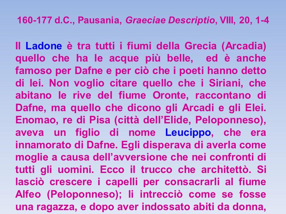 160-177 d.C., Pausania, Graeciae Descriptio, VIII, 20, 1-4