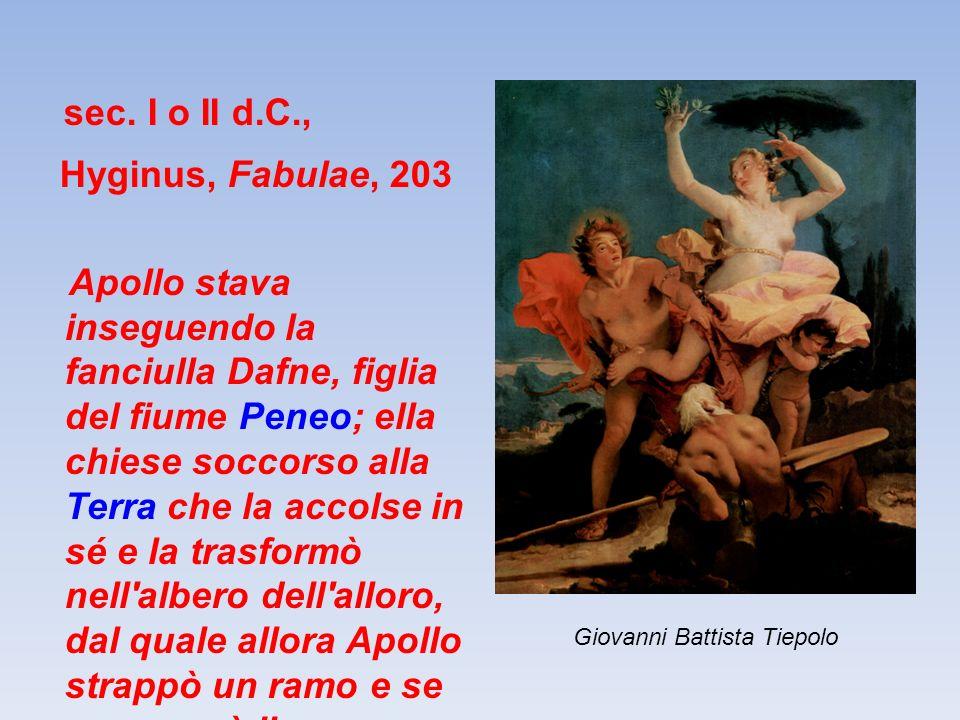 sec. I o II d.C., Hyginus, Fabulae, 203