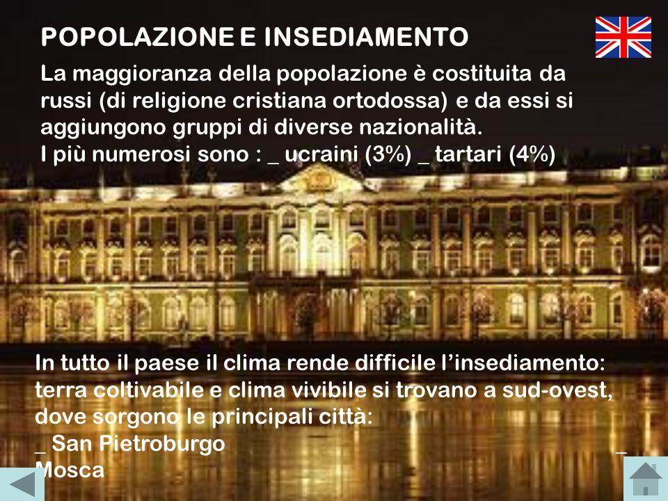 POPOLAZIONE E INSEDIAMENTO