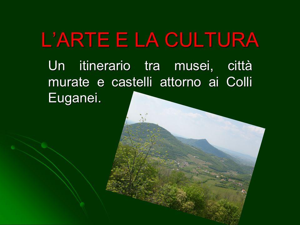 L'ARTE E LA CULTURA Un itinerario tra musei, città murate e castelli attorno ai Colli Euganei.
