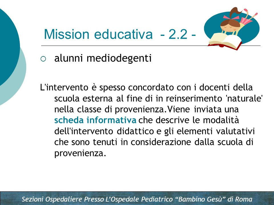 Mission educativa - 2.2 - alunni mediodegenti