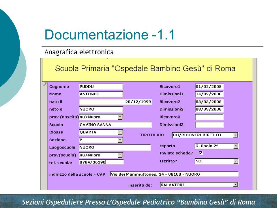 Documentazione -1.1 Anagrafica elettronica