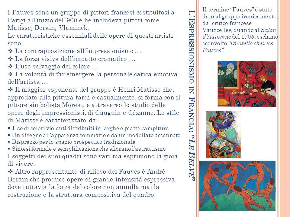 L'Espressionismo in Francia: Le Belve