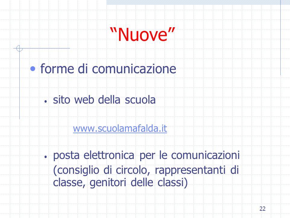 Nuove forme di comunicazione sito web della scuola