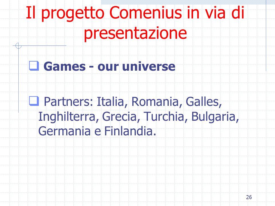 Il progetto Comenius in via di presentazione