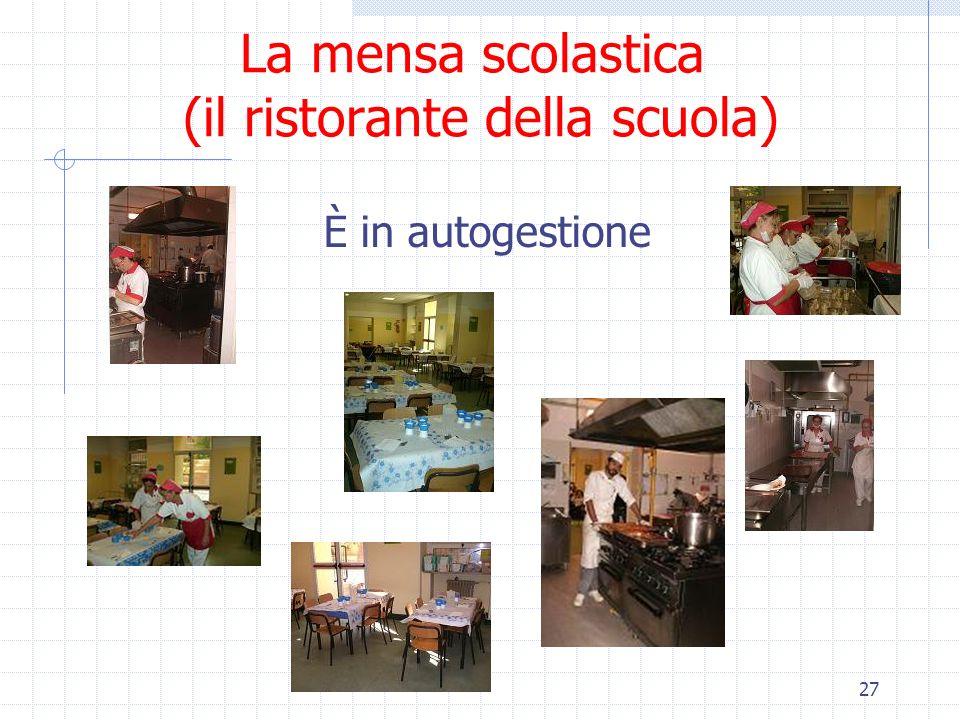 La mensa scolastica (il ristorante della scuola)