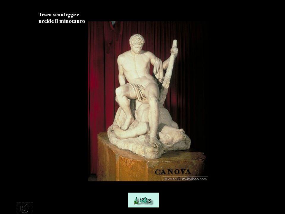 Teseo sconfigge e uccide il minotauro