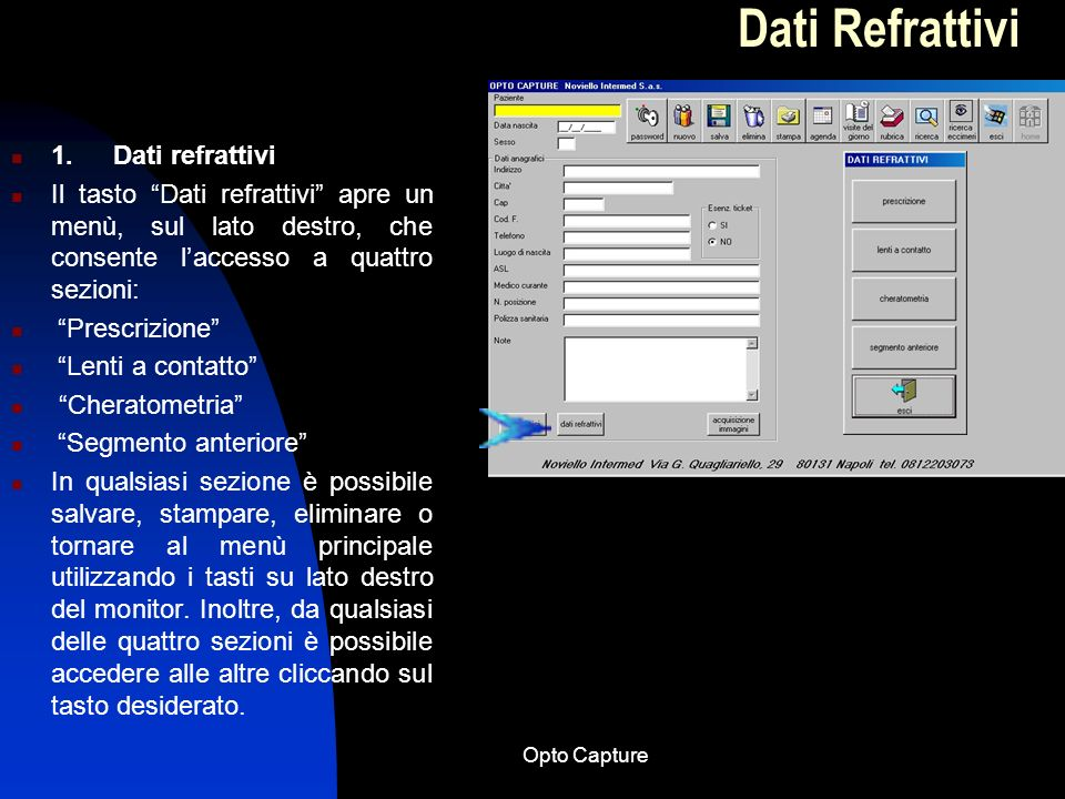 Dati Refrattivi 1. Dati refrattivi