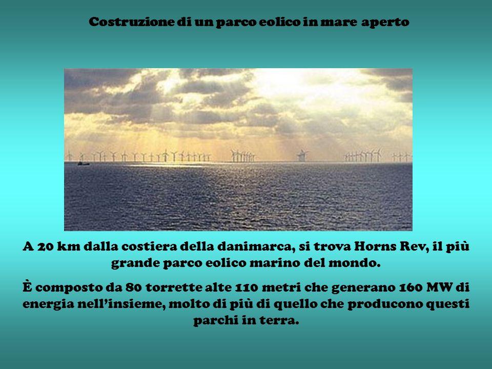 Costruzione di un parco eolico in mare aperto