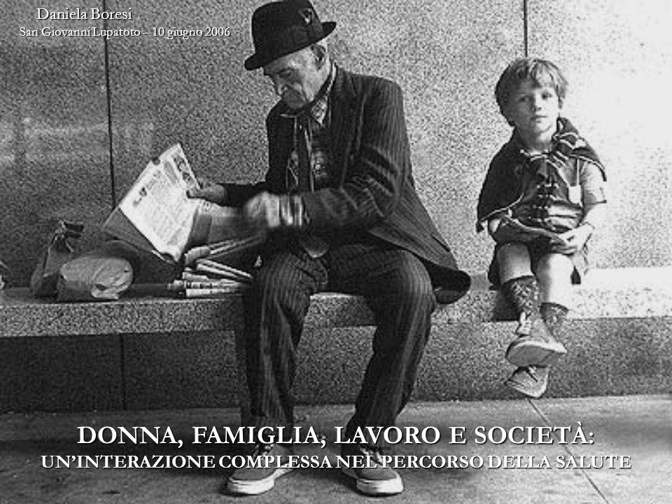 DONNA, FAMIGLIA, LAVORO E SOCIETÀ: