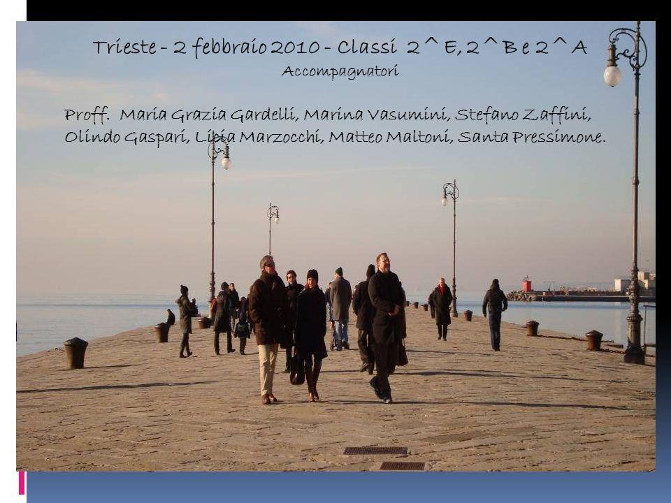 Trieste - 2 febbraio 2010 - Classi 2^E, 2^B e 2^A