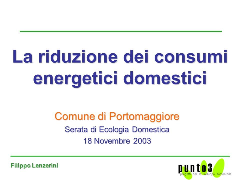 La riduzione dei consumi energetici domestici