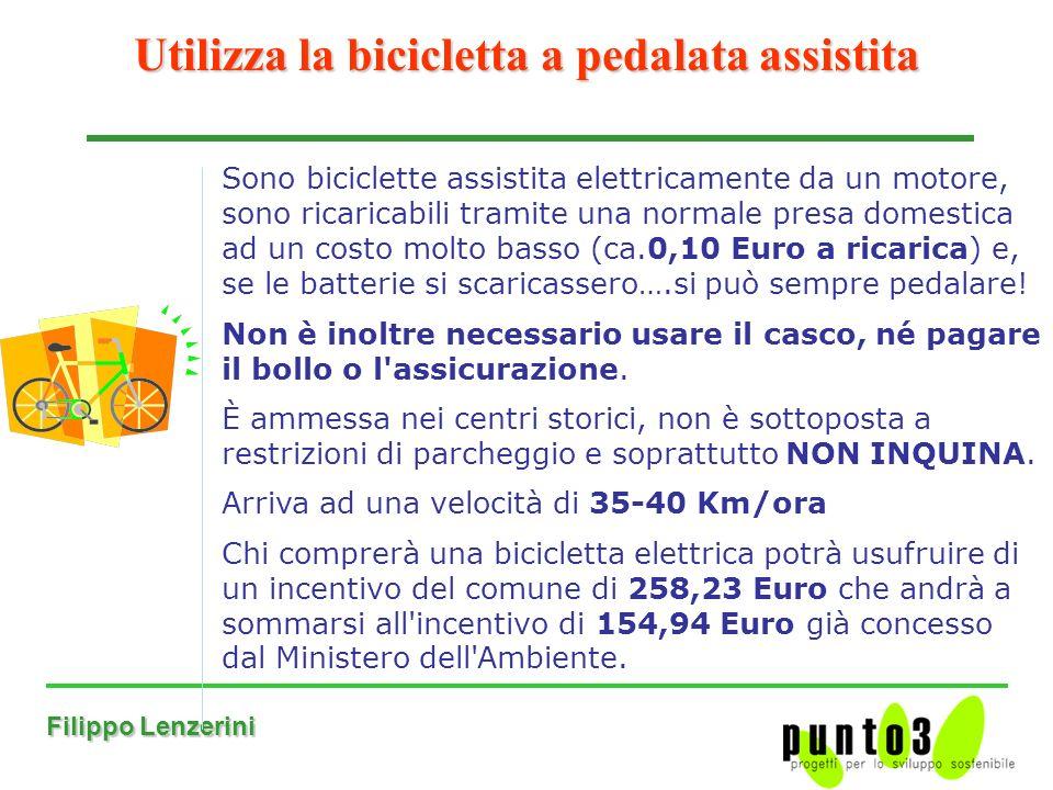 Utilizza la bicicletta a pedalata assistita