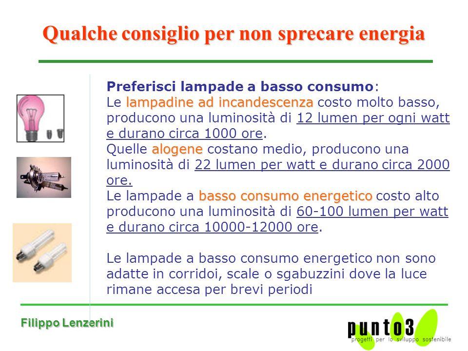 Qualche consiglio per non sprecare energia