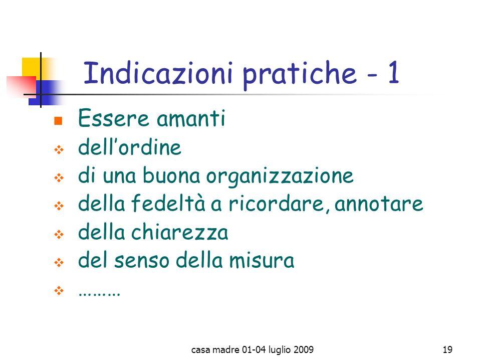 Indicazioni pratiche - 1