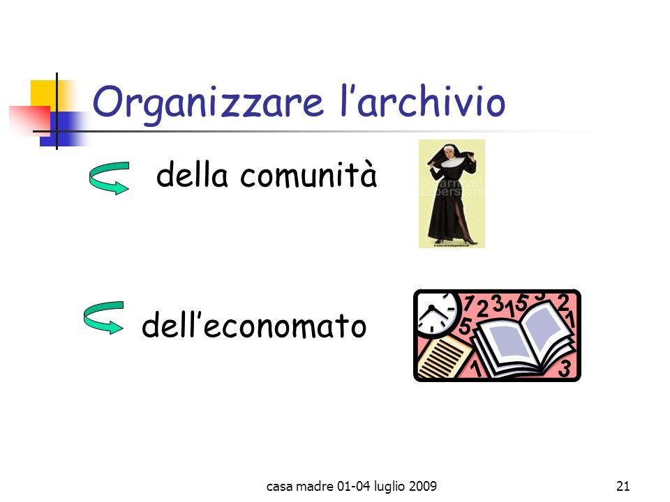 Organizzare l'archivio