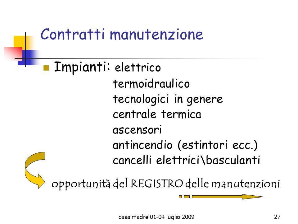 Contratti manutenzione