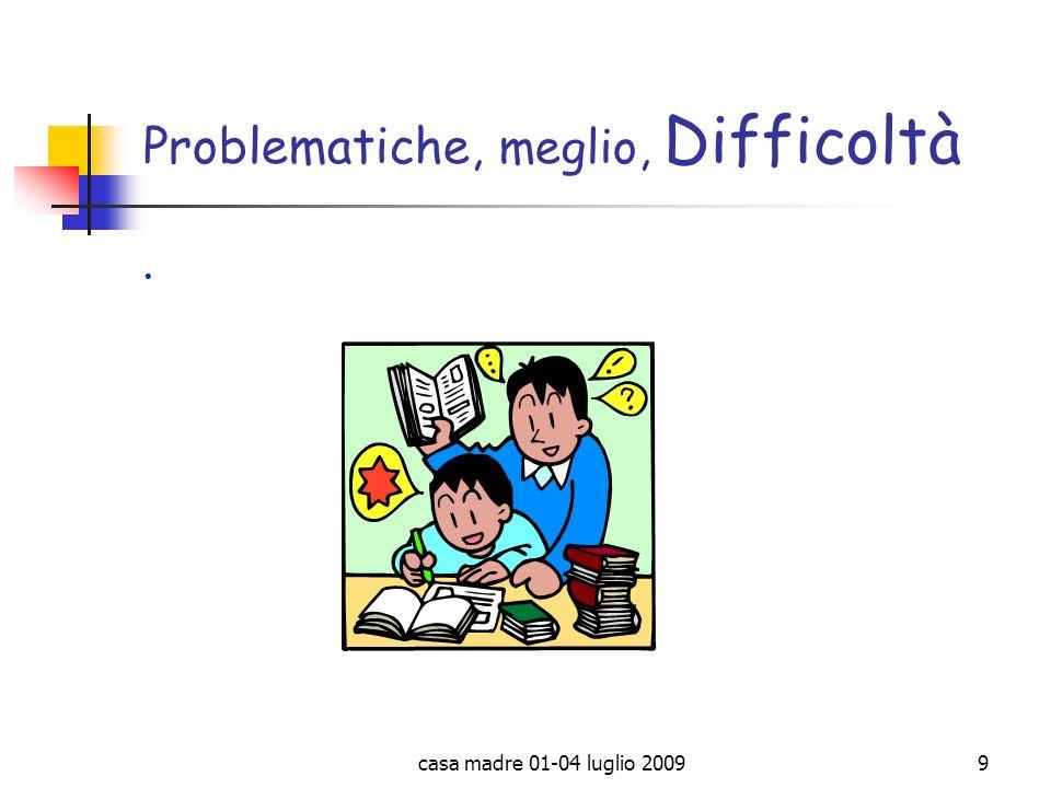 Problematiche, meglio, Difficoltà