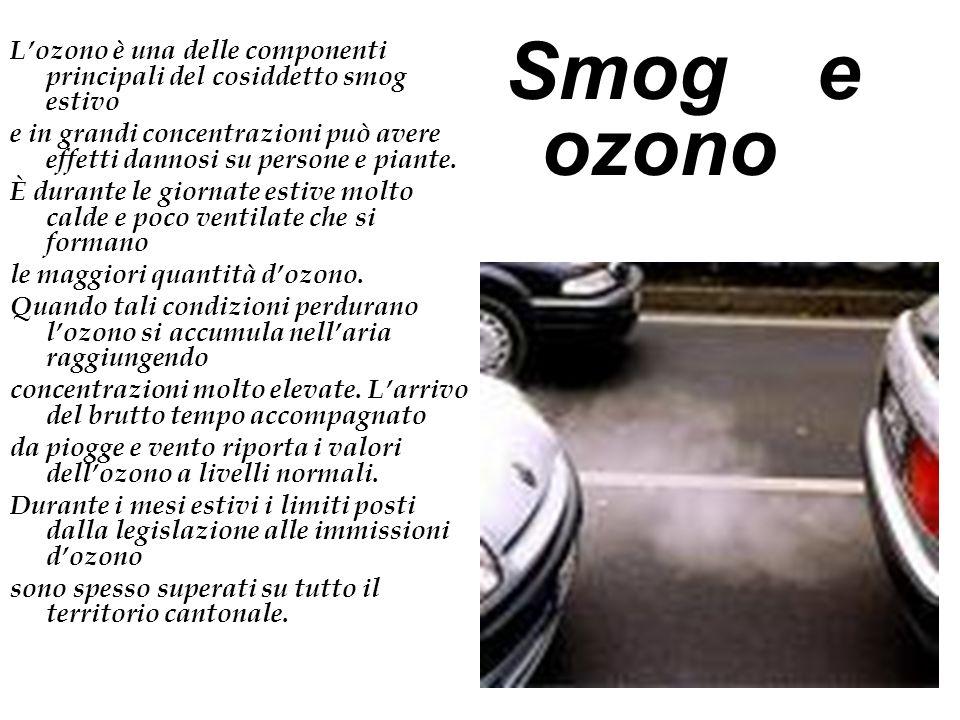 L'ozono è una delle componenti principali del cosiddetto smog estivo