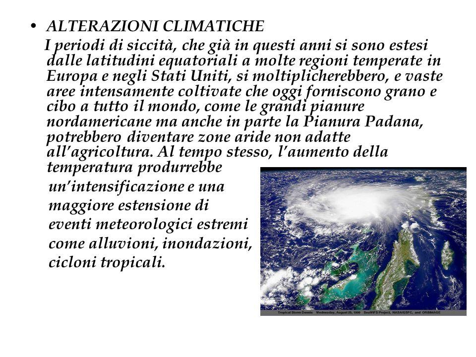 ALTERAZIONI CLIMATICHE