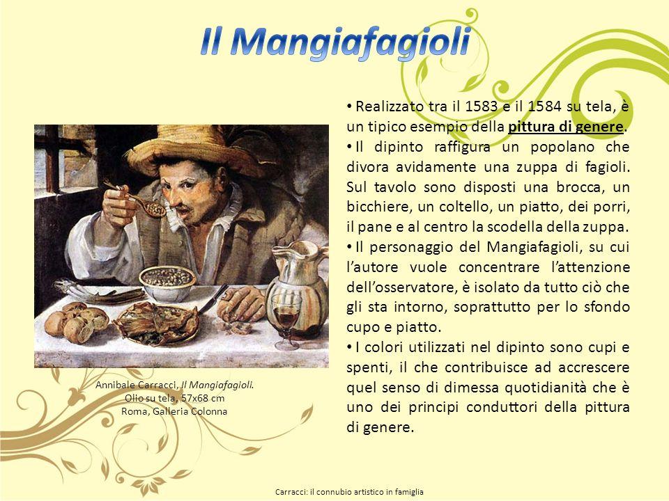 Annibale Carracci, Il Mangiafagioli. Olio su tela, 57x68 cm