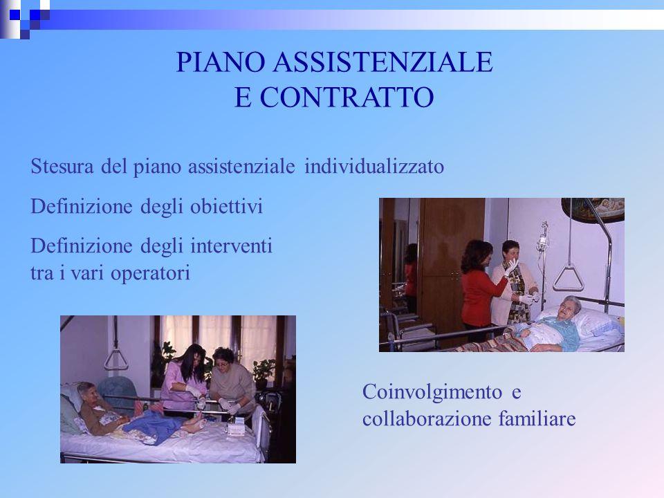 PIANO ASSISTENZIALE E CONTRATTO