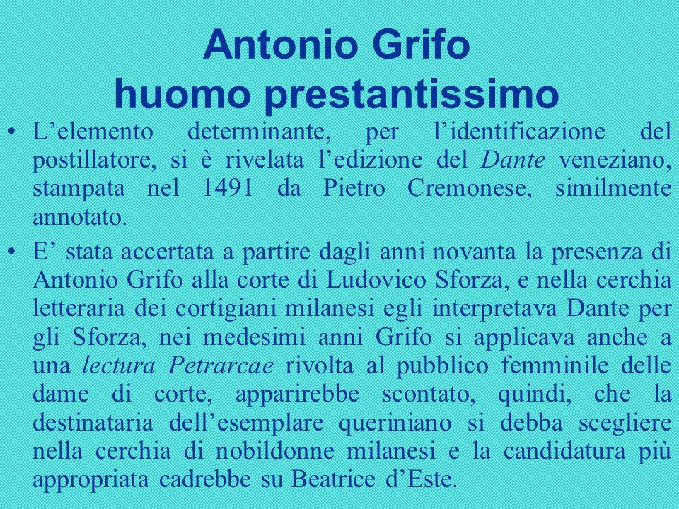 Antonio Grifo huomo prestantissimo