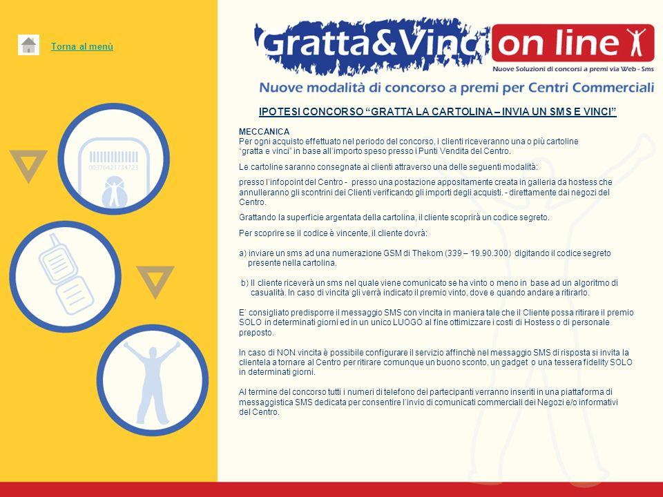 IPOTESI CONCORSO GRATTA LA CARTOLINA – INVIA UN SMS E VINCI