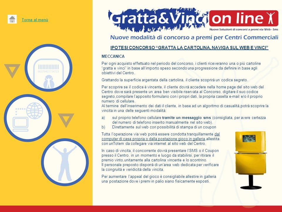 IPOTESI CONCORSO GRATTA LA CARTOLINA, NAVIGA SUL WEB E VINCI