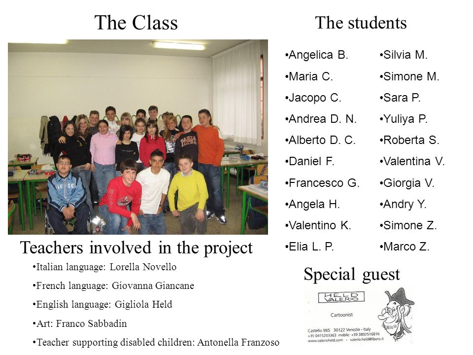 Teachers involved in the project