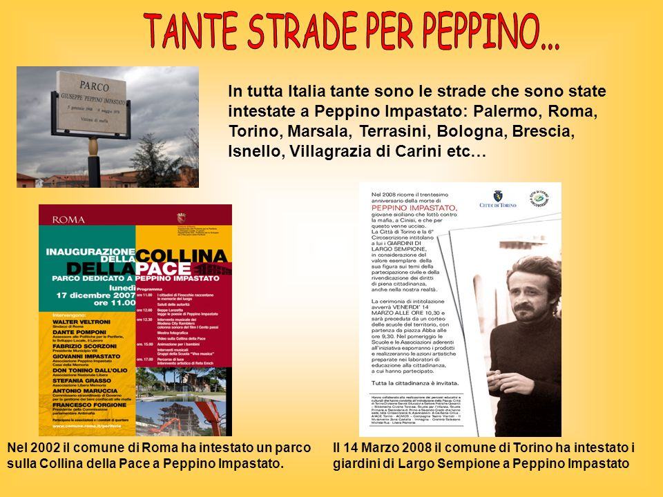 TANTE STRADE PER PEPPINO...