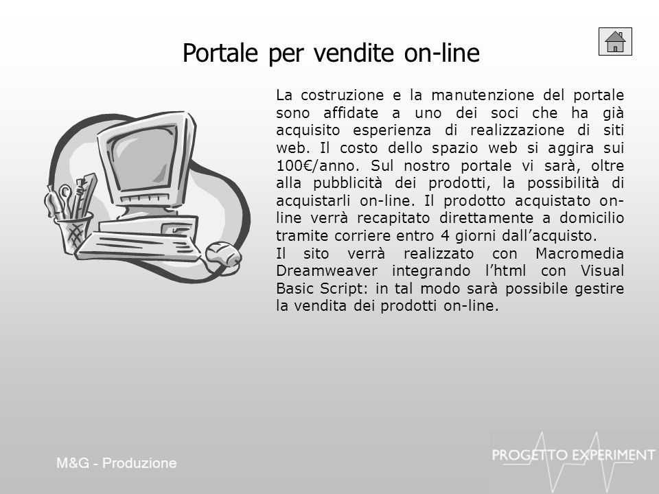 Portale per vendite on-line