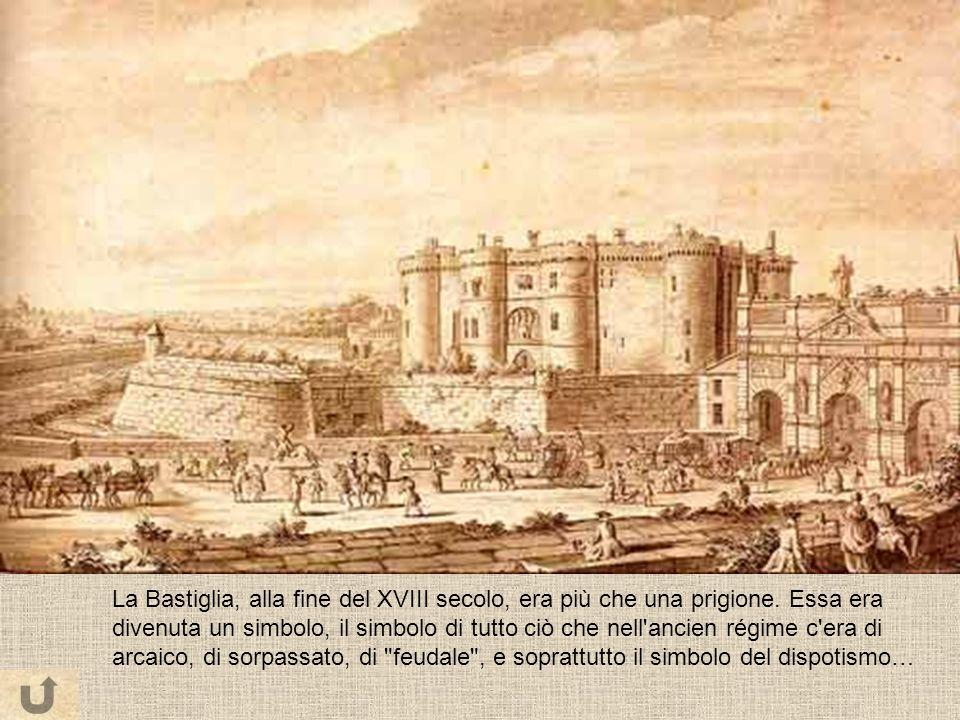 La Bastiglia, alla fine del XVIII secolo, era più che una prigione