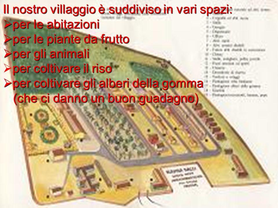 Il nostro villaggio è suddiviso in vari spazi: