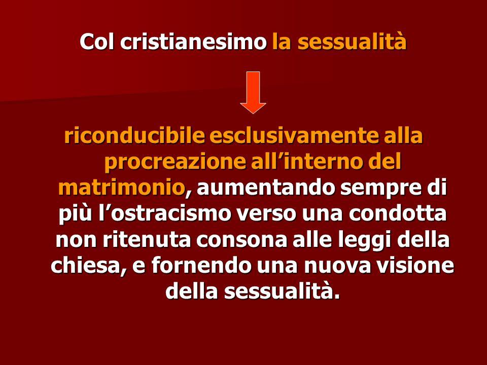 Col cristianesimo la sessualità