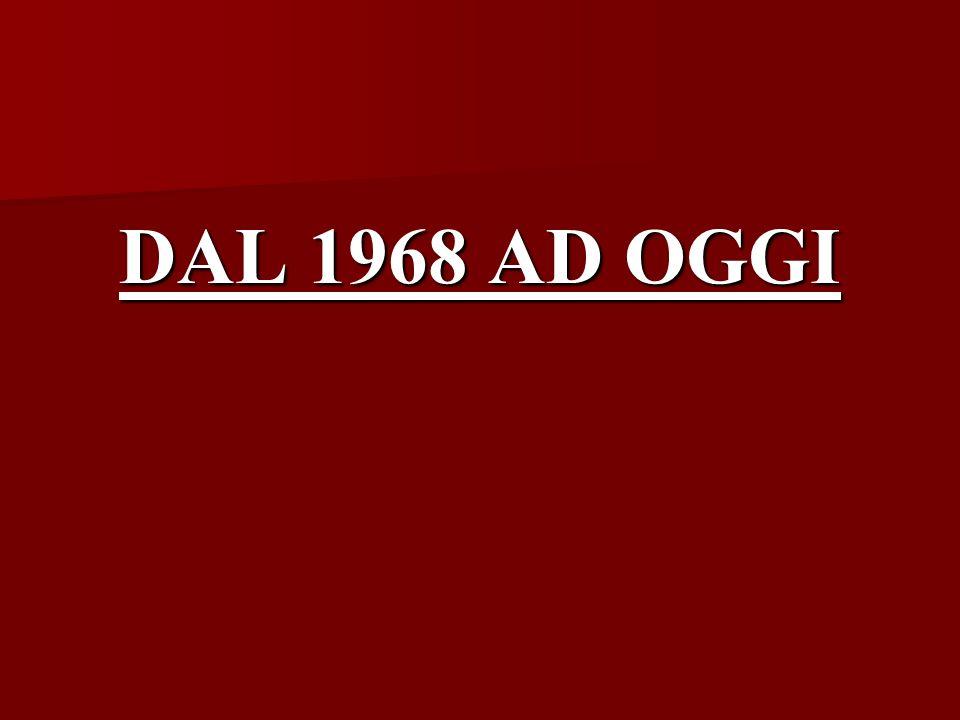DAL 1968 AD OGGI